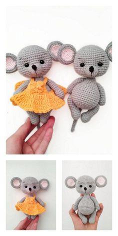 Crochet Baby Toys, Crochet Mouse, Crochet Dolls, Free Crochet, Doll Amigurumi Free Pattern, Amigurumi Toys, Crochet Leg Warmers, Crochet Animal Patterns, Bandeau