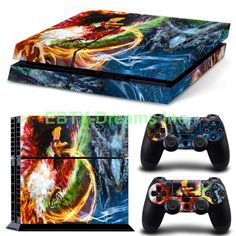 EBTY-Dreams Inc. - Sony Playstation 4 (PS4) - Pokemon Anime Ho-Oh Lugia Vinyl Skin Sticker Decal Protector
