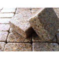 Tumbled G682 Rustic Yellow Granite Cubes China Supplier - Stone2Buy.com Cobblestone Pavers, Patio Blocks, Driveway Paving, Engineered Stone, Cubes, Granite, Natural Stones, China, Rustic