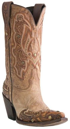 Lucchese M5705.S53F Womens Camel Tan Aspen Fashion Western Boots