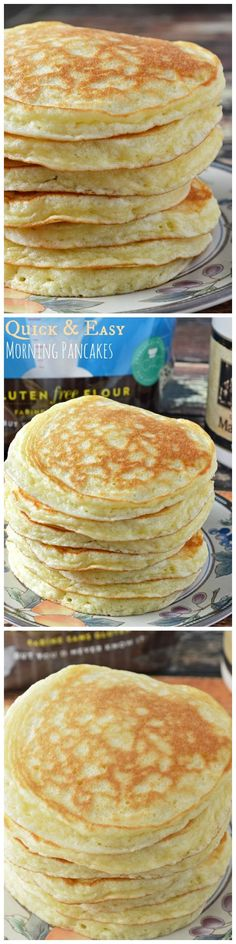 These Gluten Free Quick and Easy Morning Pancakes are an absolutely perfect gluten free pancake made with Cup 4 Cup Gluten Free Flour.