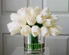 Real Touch Flowers Centerpiece-Flowers Arrangement-Real Touch Tulips-Faux Floral Arrangement-W. Fake Flower Centerpieces, Fake Flowers Decor, Fake Flower Arrangements, Faux Flowers, Flower Vases, Flower Decorations, White Floral Arrangements, Cactus Flower, Exotic Flowers