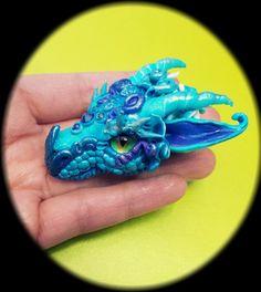 """Blue Turquoise Dragon Head Pendant by <a href=""""http://AstridMakosla.deviantart.com"""" rel=""""nofollow"""" target=""""_blank"""">AstridMakosla.dev...</a> on deviantART"""