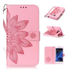 A3 A5 J3 J5 J7 2016 Grand Neo 9080 Emboss Flower Leather Flip Cover Wallet Case for Samsung Galaxy S2 S3 S4 S5 mini S6 S7 edge