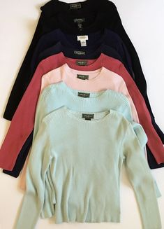 6ce5042b92b Eddie Bauer Ralph Lauren Talbots Shirts Long Sleeve Womens Black Tops Lot  of 8  EddieBauerLaurenRalphLaurenTalbots