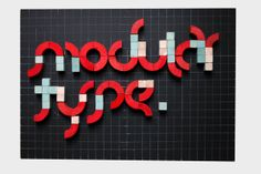 Modular Typeface by Viktor Gountaras, via Behance