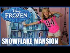 DISNEY FROZEN SNOWFLAKE MANSION Princess Ice Castle - YouTube