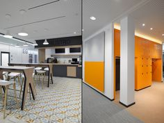 Sufficient amounts of creative-and conference rooms are now available. The types of rooms are individually adaptable for specific meeting scenarios. These rooms are different in their size and furniture design. Moreover the Philips employees are able for example to use the parents-child room and silent areas. The public roof terrace completes the supply for the Philips colleagues.
