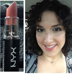 Current lipstick obsession: NYX Matte Lipsticks. Beautiful, pure colors with a creamy texture. This one is called Euro Trash. Still waiting for them to make one called Ugly Americans...