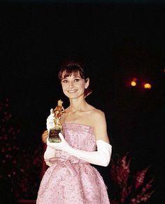 Rare Audrey Hepburn — Audrey Hepburn receiving the David di Donatello...