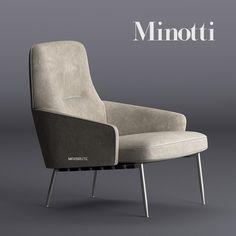 Minotti Coley Armchair 3dsmax 3dmodel