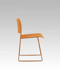 Visitor chair / contemporary / stackable / leather - 40/4 by David Rowland - HOWE
