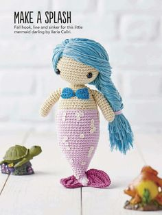 Little Amigurumi Mermaid Crochet. Pattern Pages: 1, 2 More Patterns Like This!
