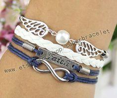 Faith bracelet infinity bracelet pearl milk tea by superbracelet, $4.99