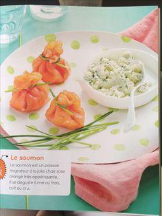 Aumônières de saumon fumé au fromage frais. Mascarpone Ciboulette Aneth Huile d'olive