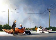 Jimmy Lawlor, 1967 | Surrealist painter | Tutt'Art@ | Pittura • Scultura • Poesia • Musica Double Exposition, Jimmy Lawlor, Weird Creatures, Naive Art, Over The Rainbow, Everyday Objects, Fantastic Art, Large Prints, Modern Art