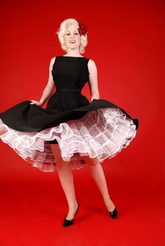 Crinoline White | Bettie Page Clothing I have this dress ,it so needs a crinoline pettiskirt!