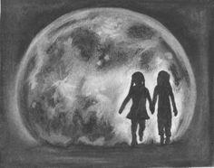 Original artwork for Mooncalf . . . by the author.