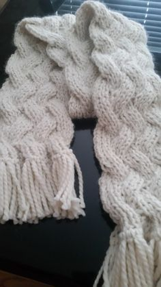 Free Knitting Pattern for Lamar Reversible Cable Scarf