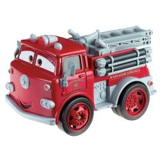 Disney Cars Toys {His favorite characters are Lightning Mcqueen, Tow Mater, Frank, Sally, and Red}