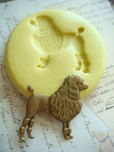 Dog  Poodle  Flexible Silicone Mold  Push Mold Jewelry by Molds, $6.00