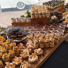 Mini cakes. Dessert table by Andy Bowdy