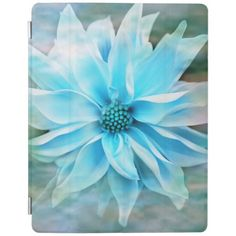 Soft Blue Dahlia iPad Covers iPad Cover