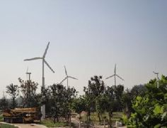 Small Horizontal Wind Turbines to provide off-grid power.