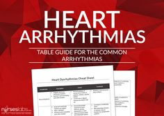 We are proud to present a printable cheat sheet which you can use as a guide to help you understand dysrhytmias better. There is also a download link below to be used for PDFs: