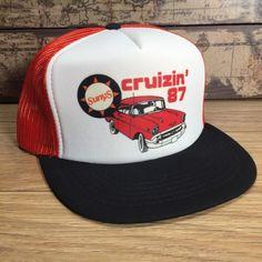 Sunys Cruizin '87 Trucker Hat Vintage Snapback Chevy Chevrolet Old Car Custom