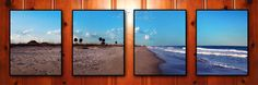 i took these photos of cocoa beach, fl and stitched/fixed them in photoshop and printed them out into 11x14 frames....