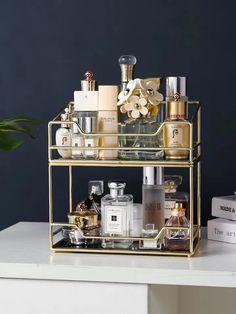 Perfume Storage, Perfume Organization, Perfume Display, Perfume Tray, Makeup Storage Shelves, Makeup Storage Organization, Make Up Storage, Cosmetic Storage, Organization Ideas