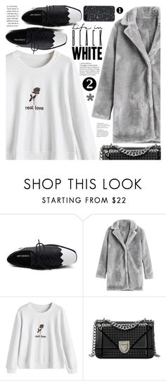 """""""Black and White"""" by pastelneon ❤ liked on Polyvore"""