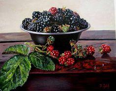 живопись, картинки, ягоды