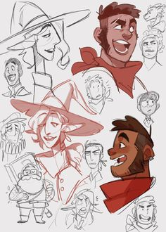 I give you…a whole lot of Adventure Zone sketches, mostly from my instagram stories. I finally caught up! What a wonderful series~ Now I just have to figure out how these guys look like, though I absolutely adore @paticmak's Ango and @careydraws' Carey. :) Anyways sorry for disappearing, I've had a ton of schoolwork that I hope to share with you guys soon!