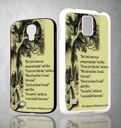 ALICE IN WONDERLAND V0660 Samsung Galaxy S3 S4 S5 (Mini) S6 S6 Edge,Note 2 3 4, HTC One S X M7 M8 M9 Cases