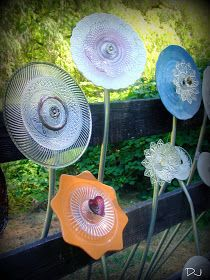 Garden Art from Up-cycled Dishes