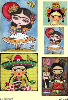 Freida Kahlo, Mexican Christmas, Zeina, Spanish Art, Country Paintings, Drawing Projects, Mexican Party, 5d Diamond Painting, Mexican Folk Art