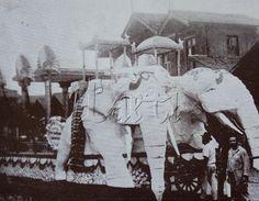 Carro Chefe dos Pierrots no desfile dos carros alegóricos dos Fenianos na Avenida RIo Branco do Rio de Janeiro em 1929. - Parade Rio de Janeiro Carnival.