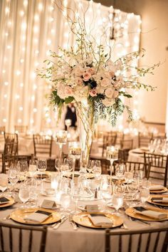 Enchanting wedding ideas with this gold note - Harvey Clark - . - Enchanting wedding ideas with this gold note – Harvey Clark – - Fall Wedding Centerpieces, Wedding Table Centerpieces, Flower Centerpieces, Wedding Decorations, Centerpiece Ideas, Mod Wedding, Elegant Wedding, Wedding Ideas, Wedding Reception