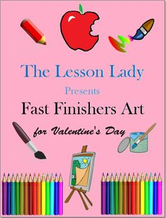 FREE Fast Finishers Art Activities for Valentine's Day! Included are ten FREE art activities that you can use for fast or early finishers.