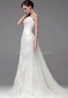 Strapless Lace Wedding Dress A Line Yckgrud