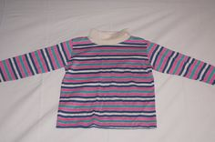 Vintage 1980's - Baby Shirt with Pink Stripes by TheMercerStreetHouse on Etsy