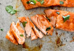 Sous vide salmon comes out perfectly cooked every time! A sweet and tangy cranberry-BBQ sauce makes a delicious marinade and glaze. Healthy Cooking, Healthy Eating, Healthy Recipes, Healthy Gourmet, Bariatric Recipes, Clean Recipes, Healthy Meals, Cooking Recipes, Summer Salmon Recipe