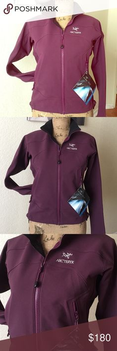 ARC'TERYX PLUM GAMMA LT JACKET💕 STRETCH WOVEN ASCENT SOFTSHELL JACKET COLOR PLUM water resistant ,durable light weight materials,enhances mobility,water repellency,laminated construction &kc components this is great weather protection Never used still has Tags VERY CUTE PERFECT FOR OUTDOORS OR HIKING!!!💕 Arc'teryx Jackets & Coats Utility Jackets