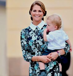 """oneillsofsweden: """"""""Princess Madeleine and Prince Nicolas outside of Drottningholm Palace Chapel before the christening of Prince Alexander on September 9th, 2016."""" """""""