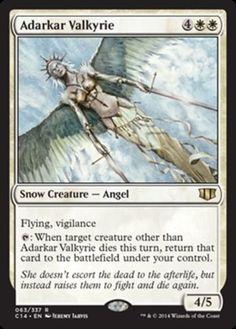 Commander 2014 Adarkar Valkyrie rare white flying vigilance angel creature card mtg Magic the Gathering