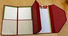 Christmas purse planner. Has a pocket for receipts, pocket for lists, and a notepad.