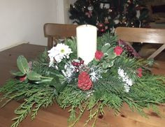 How to create a simple christmas Table Centerpiece