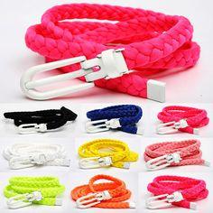 Women's decoration belt all-match knitted belt tieclasps thin belt strap Women casual female $12.29